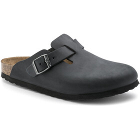 Birkenstock Boston Clogs cuero nobuk, black